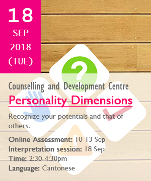 Personality Dimensions, 18 Sep, 2:30-4:30