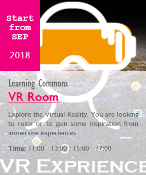 VR Room, start from sep, 11:00-13:00 and 15:00-17:00