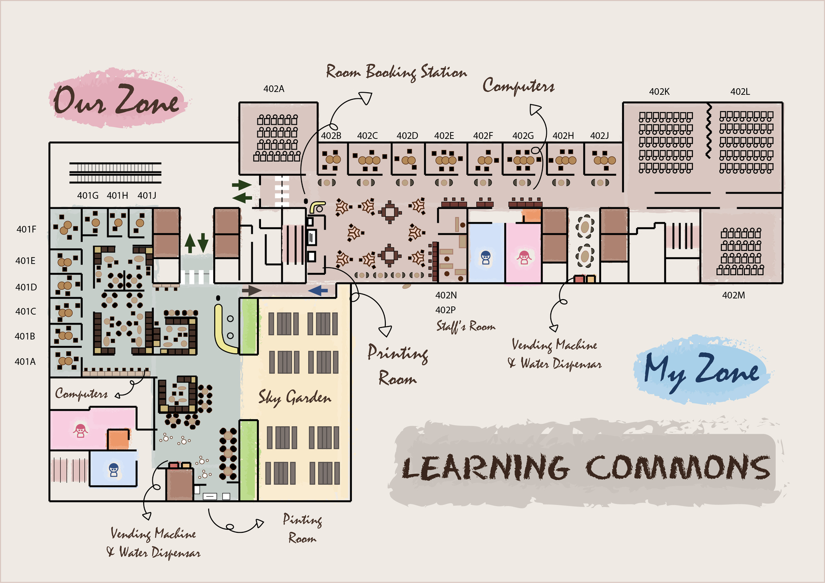Learning Commons Floor Plan