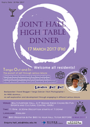 Joint Hall High Table Dinner 2017