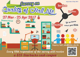 Quality of Hall Life Survey 2017