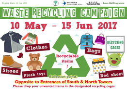 Waste Recycling Campaign (Semester 2, 2016-17)