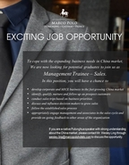 Recruitment from Marco Polo Hotels Hong Kong-Management Trainee - Sales