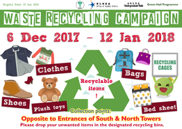 [UG] Waste Recycling Campaign (Semester 1, 2017-18)