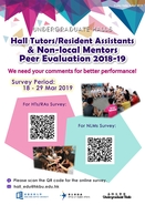 [UG] Hall Tutors / Resident Assistants & Non-Local Mentors Peer Evaluation 2018-2019