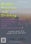 [UG] Mindful Meditation and Stretching Workshop