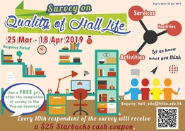 [UG] Quality of Hall Life Survey (Semester 2, 2018-19)