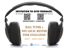 [UG] Hall Tutors & Non-Local Mentors Peer Evaluation 2019-2020 (Semester 2)