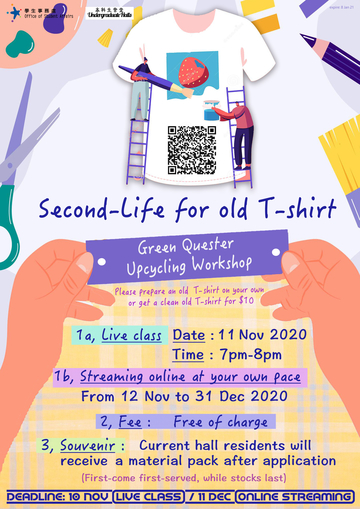Second Life for Old T-Shirt : Green Quester Upcycling Workshop