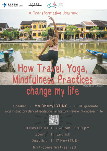 Webinar: A Transformative Journey: How Travel, Yoga, Mindfulness Practices change my life