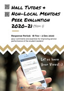 [UG] Hall Tutors & Non-Local Mentors Peer Evaluation 2020-2021 (Semester 1)