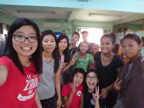 Our students engaged a deep relationship with the children in the Insein Grace Haven Children Home.